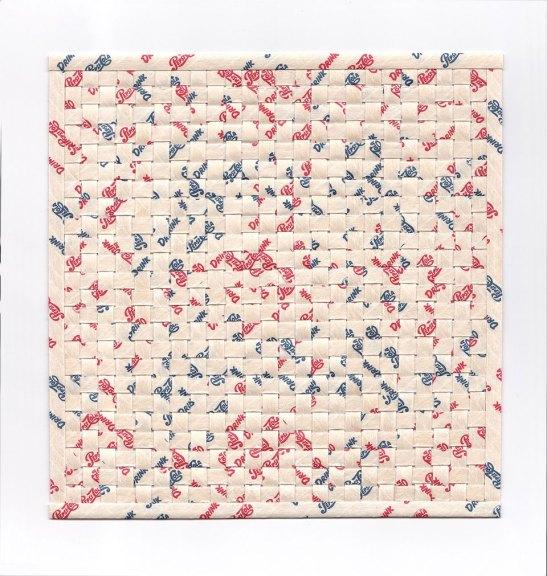 Karyl Sisson, Straw Suites (Pepsi II), 2016. Vintage paper drinking straws