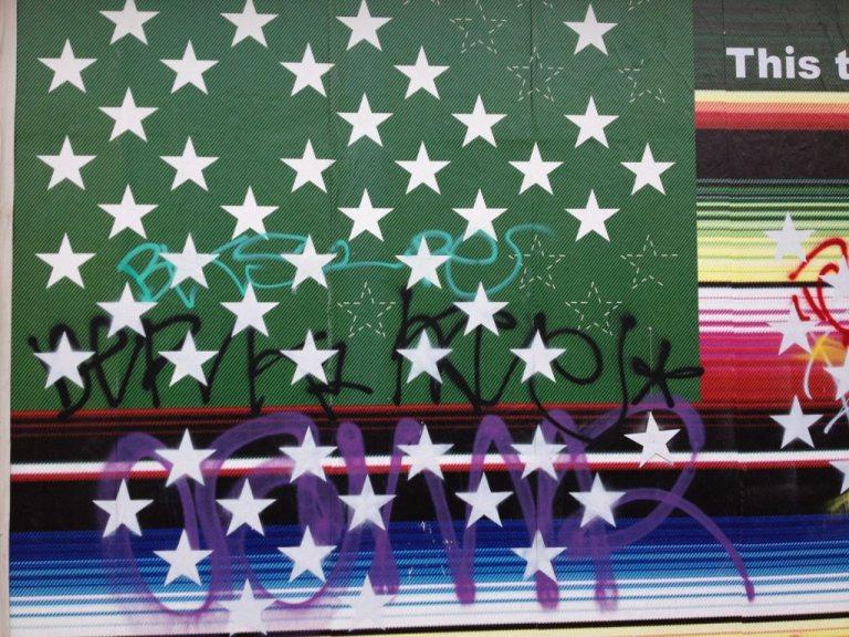 Victor De La Rosa, 2013, Future Flags of America: Study for 2050 U.S. Flag Tag Detail
