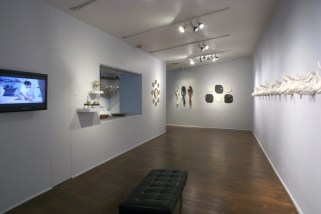 Installation view featuring Giuseppe Pellicano's War Pigs