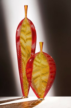 Dante Marioni, Yellow in Red Leaf Installation. Russell Johnson photograph
