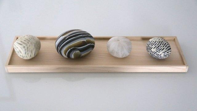 Hiromi Takizawa Mineral, 2014. Glass rocks, CA Handmade, Craft in America, glass rocks