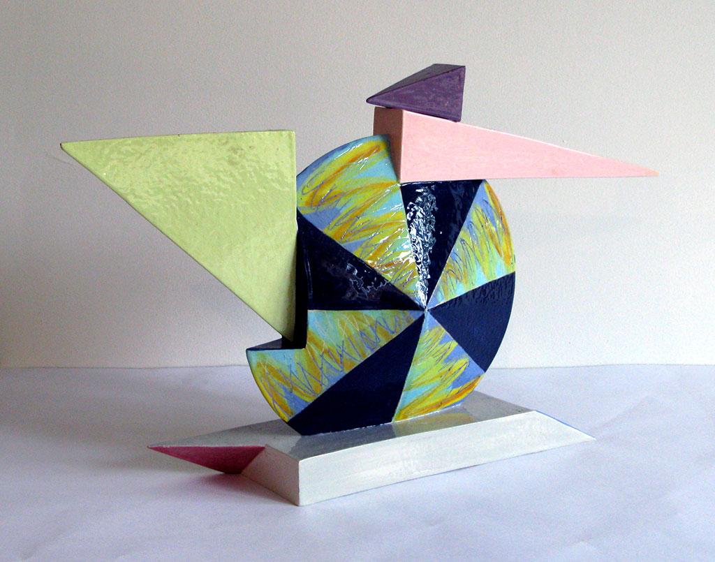 Peter Shire, Pinwheel, c.1980, gsoc, Craft in America