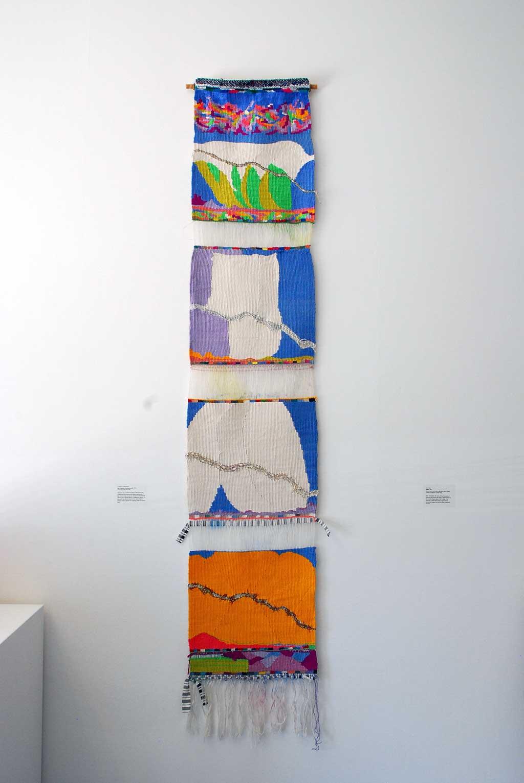Consuelo Jimenez Underwood, Las 4 Xewum (undocumented), 2014. Linen warp, silk, linen weft