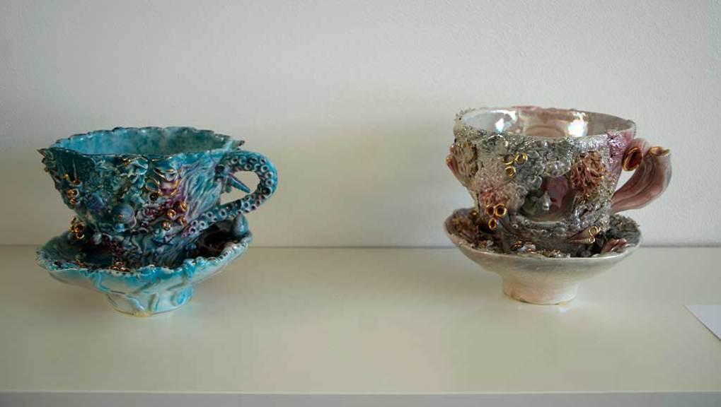 Nikki Lewis, Sea Tea Cups and Saucers, 2009