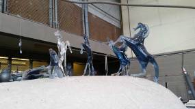 Glass horses at the studio