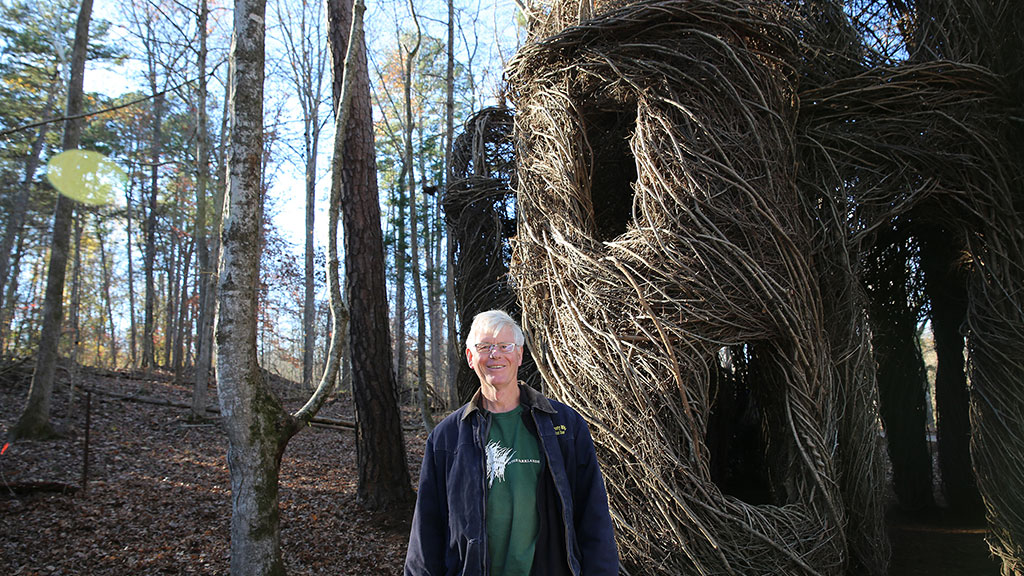 Patrick Dougherty with A Sight to Behold