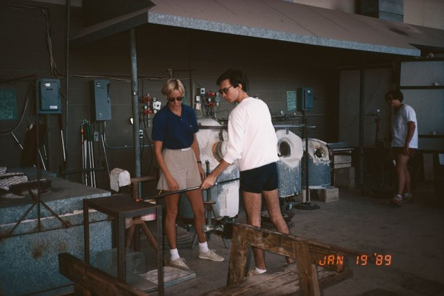 Punahou's glass shop, 1989. Courtesy Boyd Sugiki