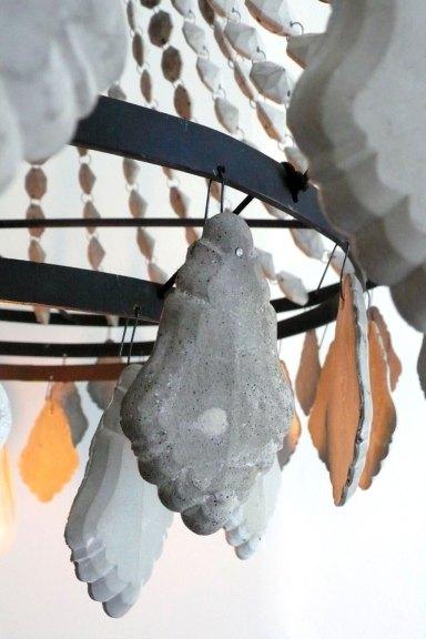 Mia Hall, Concrete Chandelier (detail), 2014