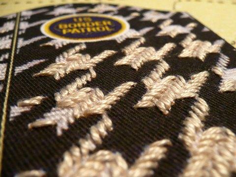 Victor De La Rosa, Farm Workers Jacket-Subsiguiente, detail, 2012