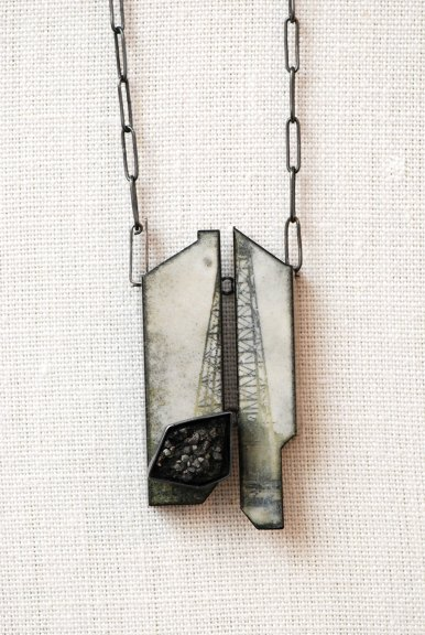 Kat Cole, Black Gold Pendant, 2014