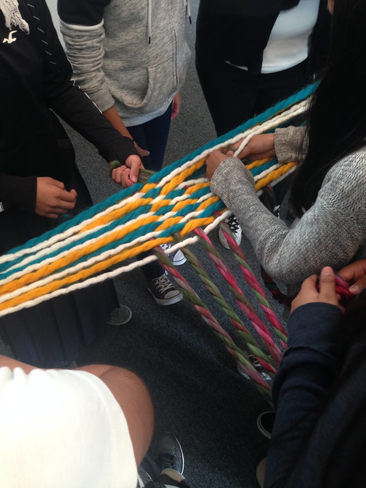 Large human weaving project