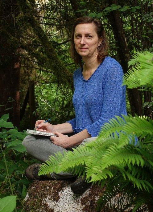 Catherine Alice Michaelis in her garden