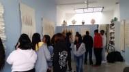 """Education Outreach, Fairfax High Seniors Visit """"Mary Little: The Shape of Cloth"""""""