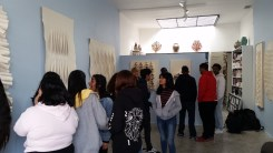 "Education Outreach, Fairfax High Seniors Visit ""Mary Little: The Shape of Cloth"""