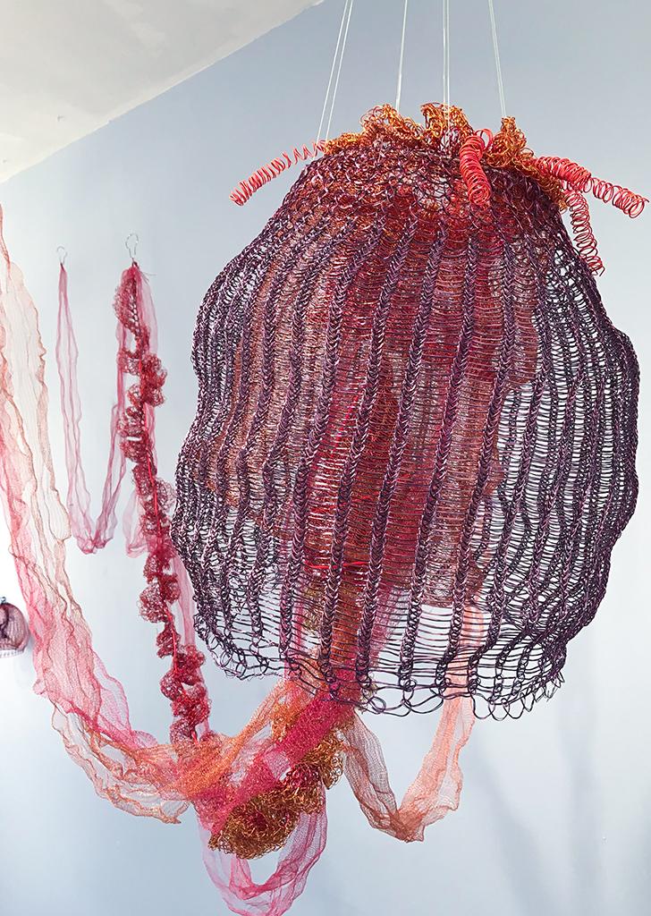 Arline Fisch, Black Sea Nettle, 2008, Aquatic Bloom, Craft in America