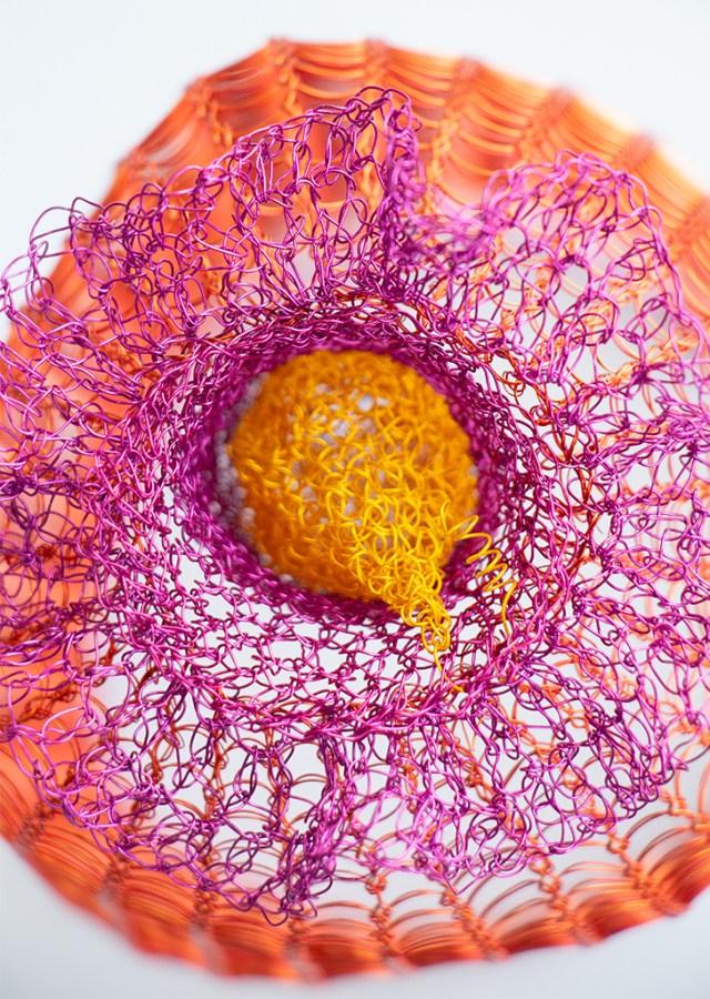 Arline Fisch, Coral (Detail), 2018, Aquatic Bloom, Craft in America