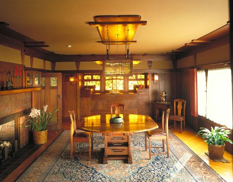The Gamble House Dining Room. Courtesy of The Gamble House, USC. Photograph © Tim Street-Porter.
