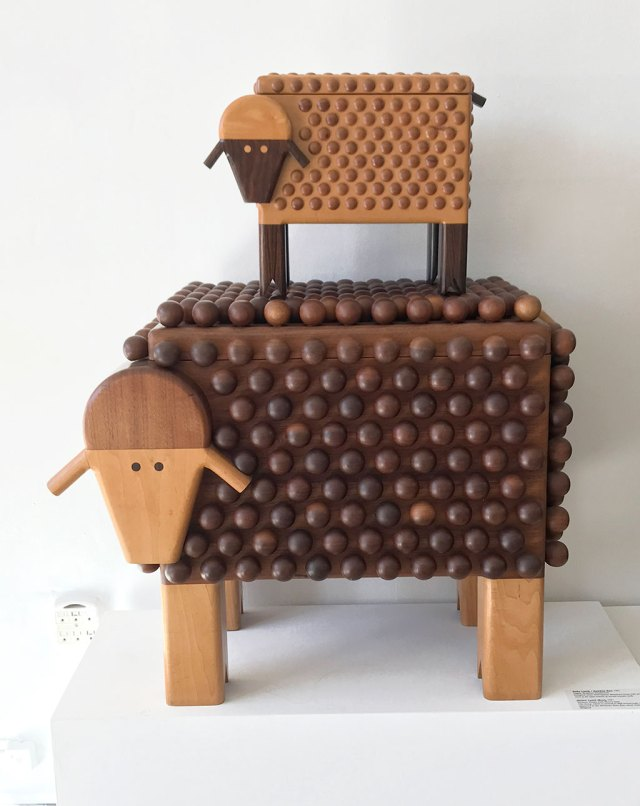 Made to Play, Pamela Weir-Quiton, Baby Lamb / BaaBaa Box, 1971; Mama Lamb, 1971, Craft in America
