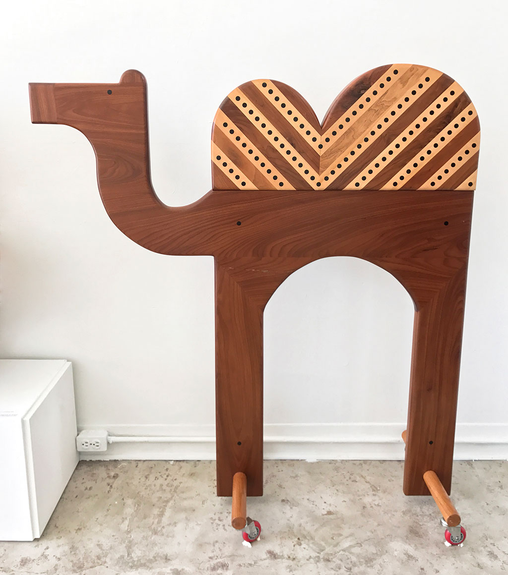 Camel, 1969, Aphromosia, Walnut and Maple with Ebony eyes and dots, Craft in America