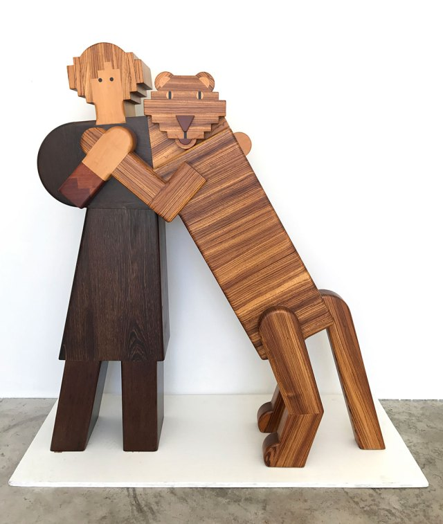 Made to Play, Pamela Weir-Quiton, Mabel and Her Cat, 1979, Craft in America