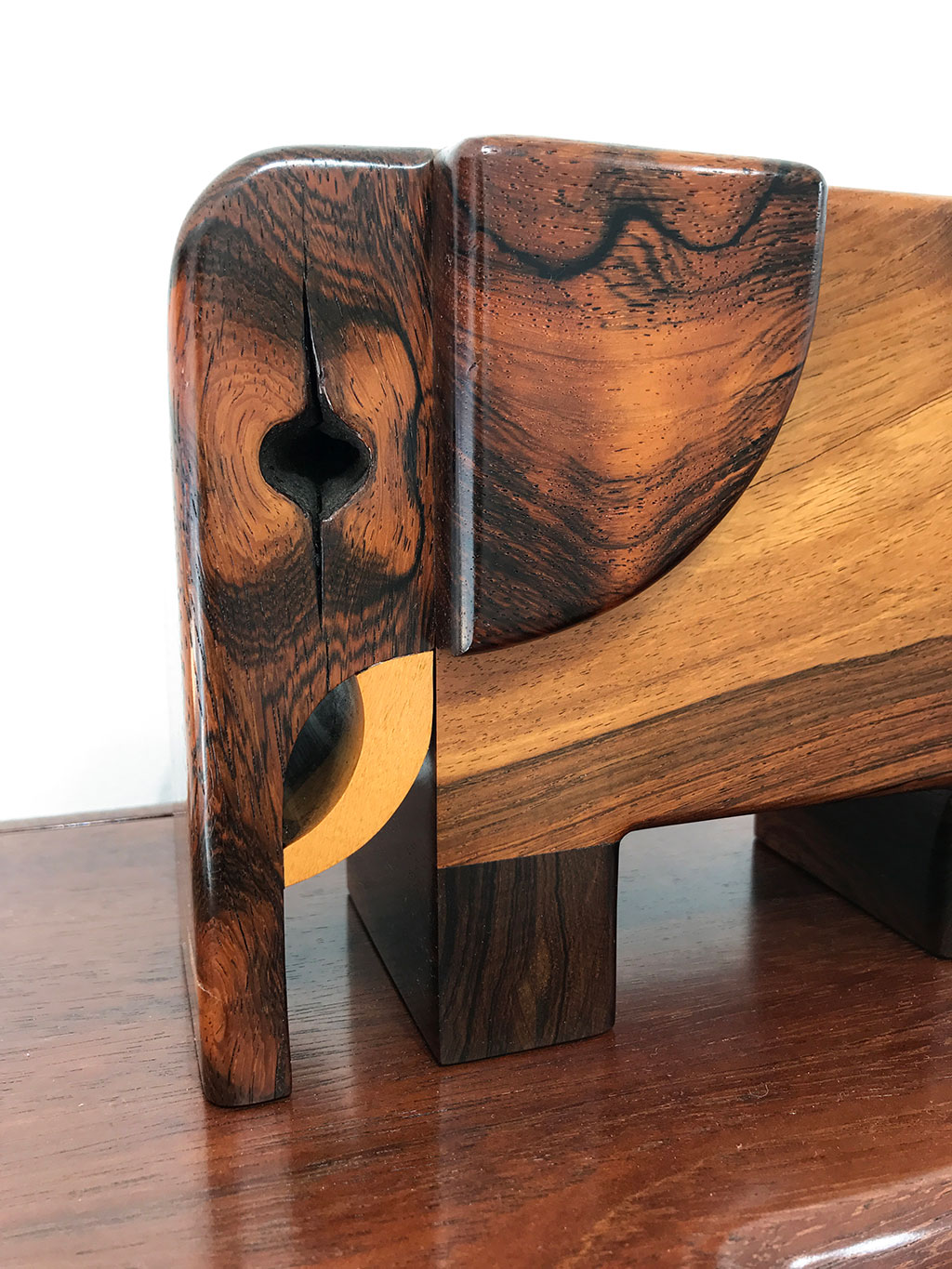 Made to Play, Pamela Weir-Quiton, Little ELLA, 1972, Brazilian Rosewood, Maple Tusk, Craft in America