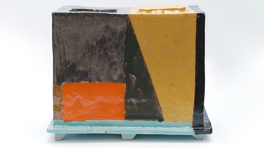 John Gill, Square Vase, 2016, ceramic