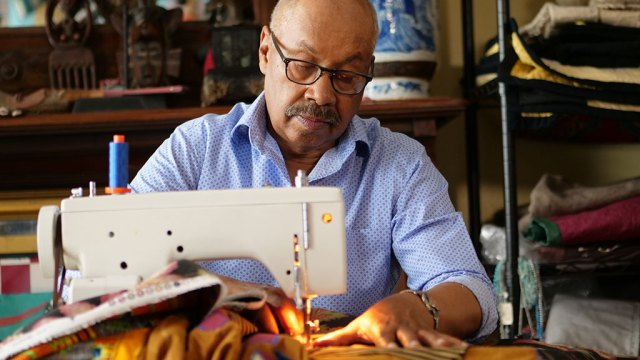 Michael Cummings, sewing machine, QUILTS, Craft in America