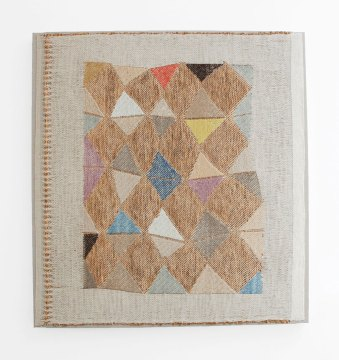 Christy Matson, Paragon, 2017, paper, linens, cotton, wool; Jacquard hand woven