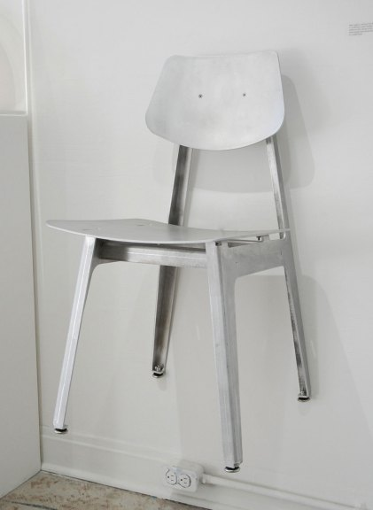 Klein Agency, Dining Chair BT, Aluminum, 2017, Bon Temps, Consume: Handcrafting L.A. Restaurant Design, Craft in America