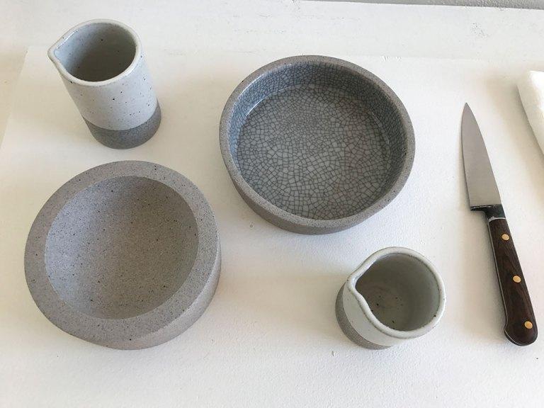 Consume: Handcrafting L.A. Restaurant Design, Delphine Lippens ceramics, Nobuhito Nishigawara Glazed stoneware, Craft in America