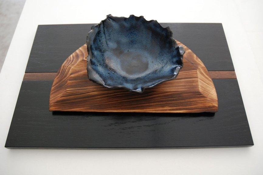 Alex Miller, Rough Around the Edges Dinner Bowl, Glazed stoneware, 2017, n/naka, Consume: Handcrafting L.A. Restaurant Design, Craft in America