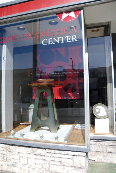 Consume: Handcrafting L.A. Restaurant Design exhibition window, Craft in America