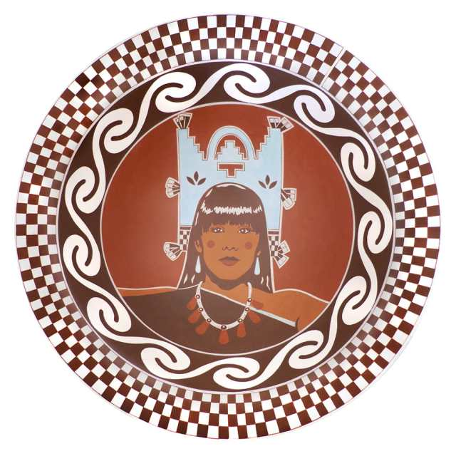 Diego Romero, Cochiti Polychrome Bowl, Cochiti Maiden, IDENTITY, Craft in America