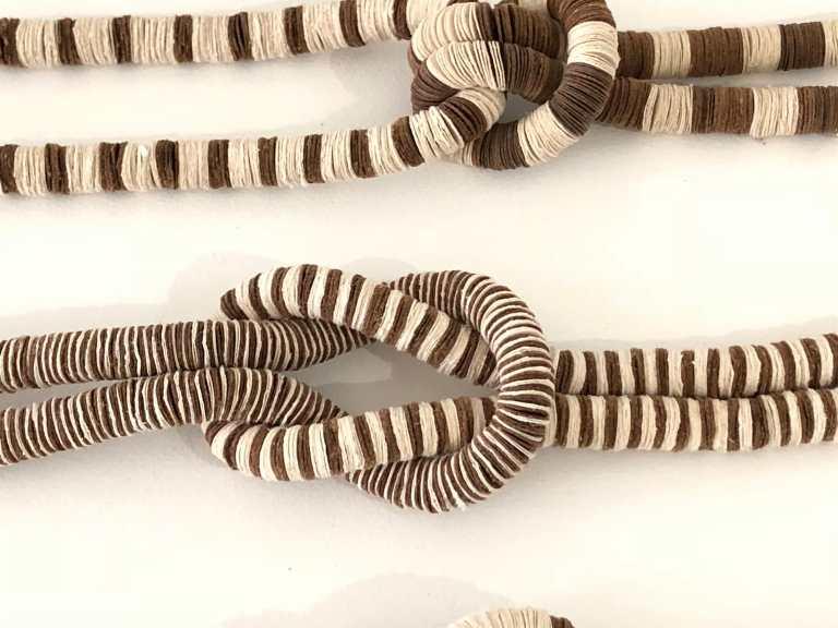 Kiff Slemmons, Collective Presence, Palitas Group, 2002. Handmade paper, indigenous fibers, Craft in America