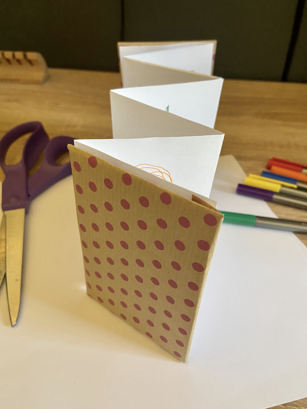 An example of an accordion book