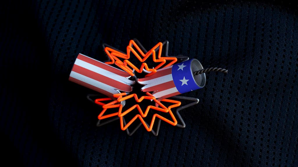 Stefan Gougherty, Boom Brooch, 2020 Craft in America Center Democracy Election