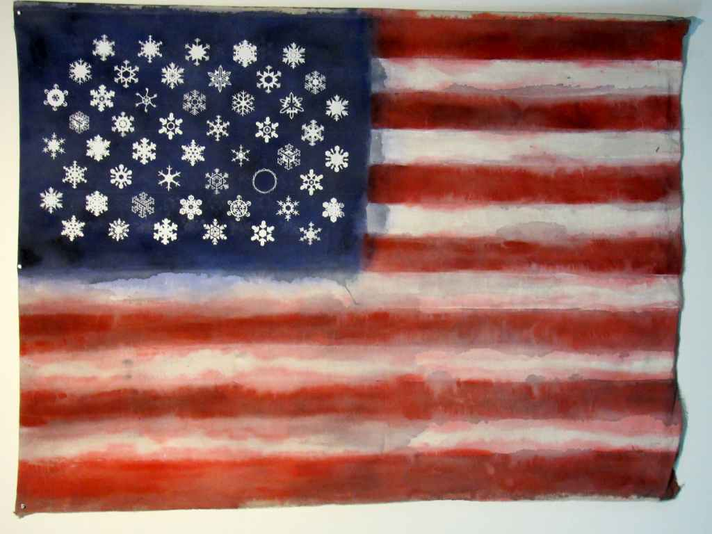 Craft in America Center Flag Share 2020 Beyond Sean Connaughty, Snowflake Flag, 2020