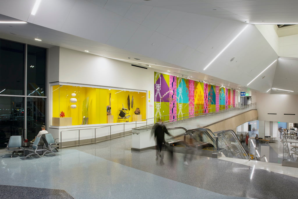 Craft in America: Made in LA installation view at LAX Terminal 1