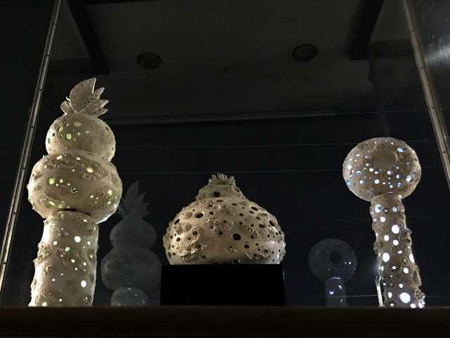 Joan Takayama-Ogawa, Window Installation (night view), Craft in America