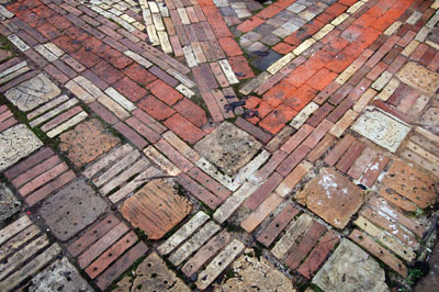 Craft in America, Making Waves, Temporary-Bricks made from recycled clay