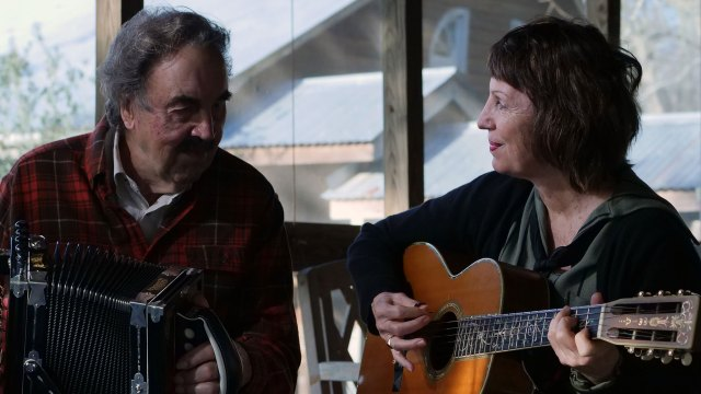 Marc Savoy on accordion and Ann Savoy on guitar. Denise Kang photo. HARMONY episode of Craft in America
