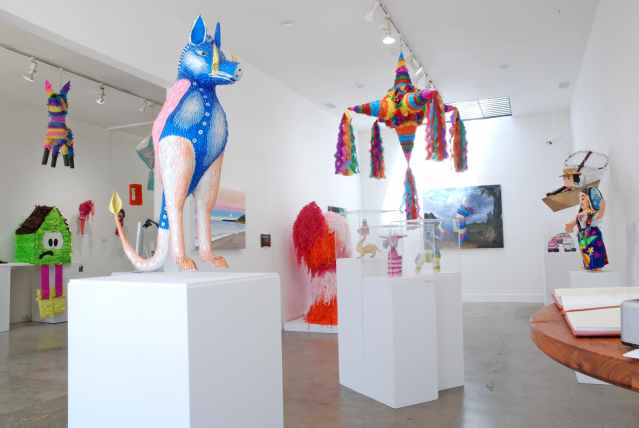 Piñatas: The High Art of Celebration at Craft in America, Gallery Installation View. Photo Credit: Madison Metro, Craft in America, Piñatas