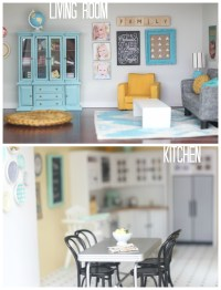 DIY dollhouse: living room and kitchen