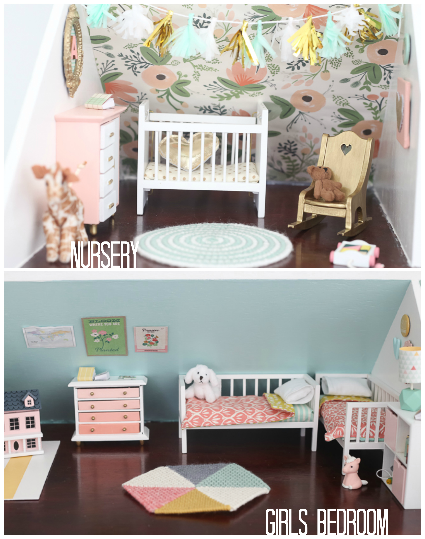 living room set diy nice dollhouse and kitchen nursery girls bedroom