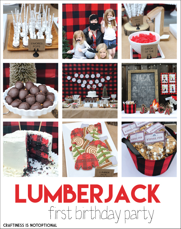 a lumberjack first birthday party craftiness is not optional bloglovin