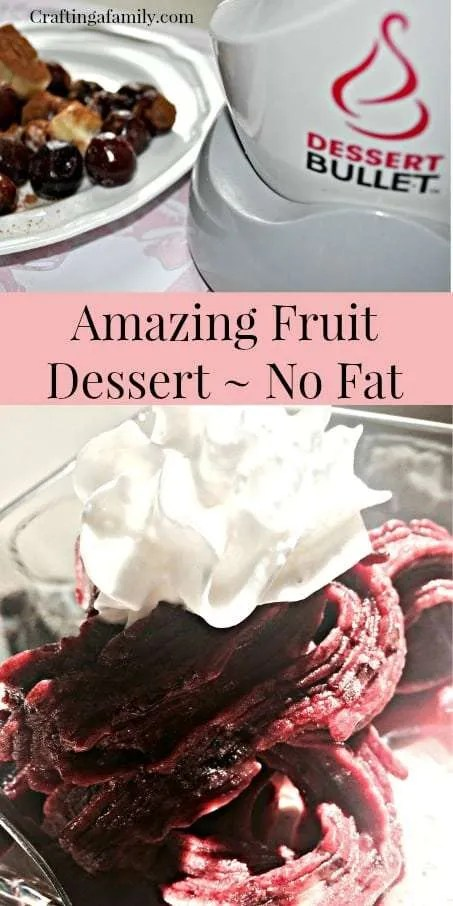 Amazing Fruit Dessert ~ No Fat ~ Dessert Bullet ~ Craftingafamily.com