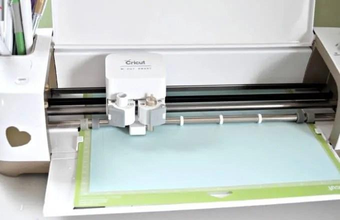 Cutting the Cricut Banner Firs Step
