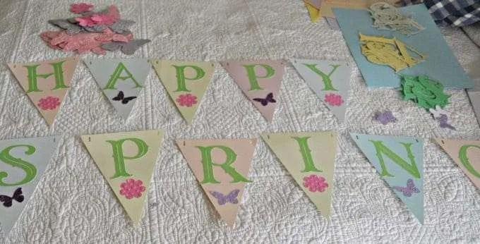 Cricut Banner Happy Spring