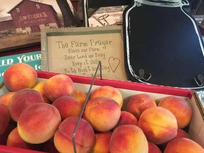 Peaches at farm market