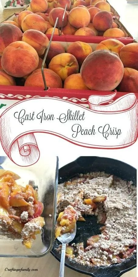 Cast Iron Skillet  Summer Fresh Picked Peach Crisp